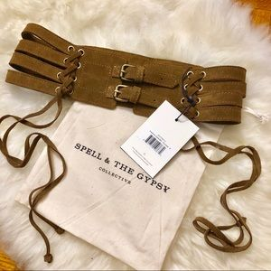 Spell Josephine Suede Belt -Trading for Large Only